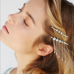 Free People Accessories - NWT Free People Star Droplet bobby pin set silver